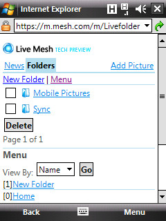 No more Live Mesh for Windows Mobile