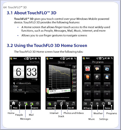HTC Touch HD manual now available for download 1