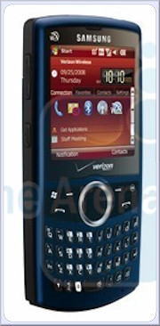 Verizon Samsung Omnia, Saga pictured 2