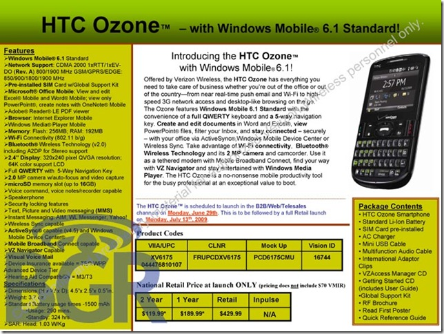 Verizon Wireless XV6800 – with Windows Mobile® 6!
