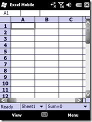 Excel Mobile 2007