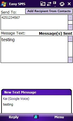 Google Voice Easy SMS for Windows Mobile released – send