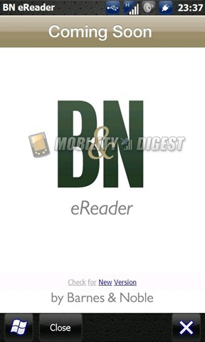 Barnes and Noble e-reader app coming to all Windows Mobile devices soon? 11