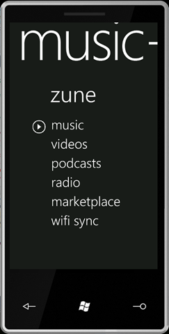 Zune for Windows phone 7