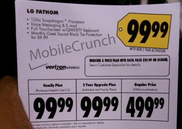 LG Fathom is coming to Best Buy at $99