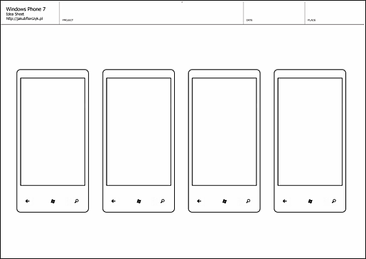 For developers story boarding template for windows phone for Storyboard template app