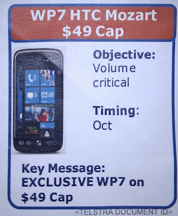 HTC Mozart runs Windows Phone and is coming October 2010