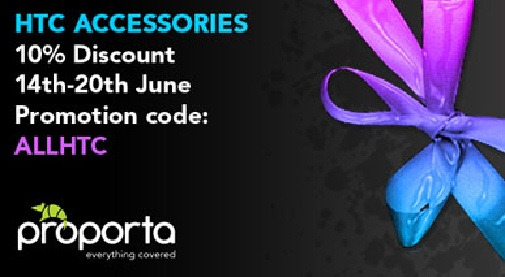 Proporta 10% off HTC accessory deal