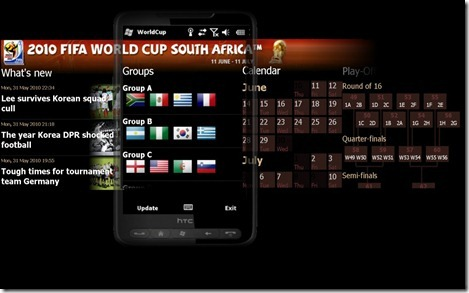 World Cup 2010 app for Windows Mobile