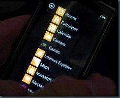 wp7 apps screen