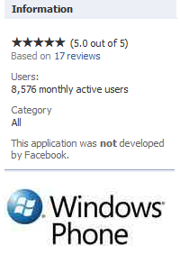 There are more than 8500 Windows phone 7 devices in the wild