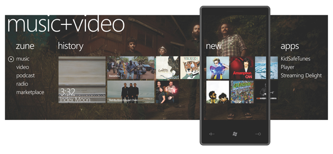 Every WP7 device will be a zune