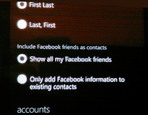 facebook integration a bit slicker in RTM Windows Phone 7