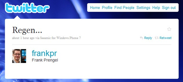 Seesmic twitter for Windows Phone 7