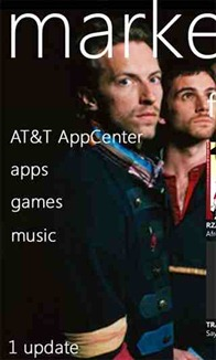 AT&T AppCenter for Windows phone 7 pictured.