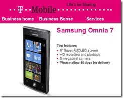 Samsung Omnia 7 being promoted as a business handset?