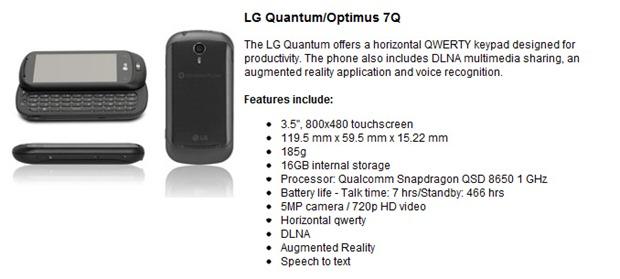 LG Quantum/Optimus 7Q