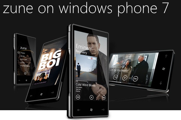 What a Microsoft Windows phone 7 handset may look like.