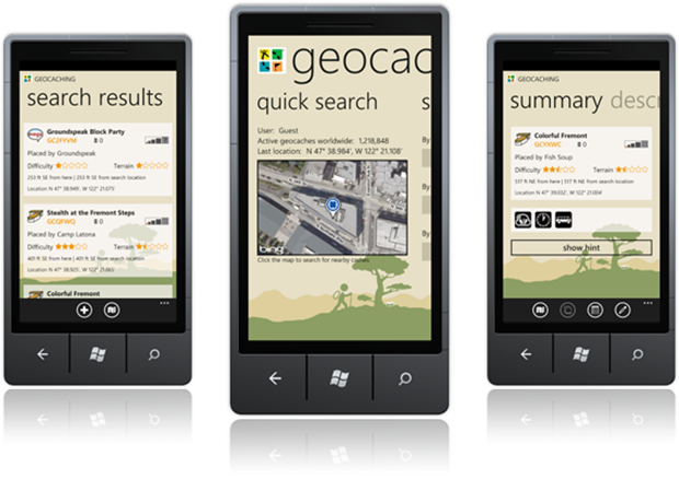Geocaching app for Windows Phone 7 now available 2