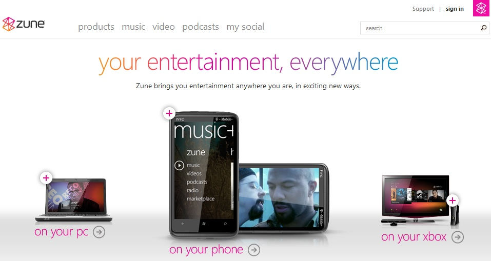 Zune HD Missing From Zune.net Homepage 32