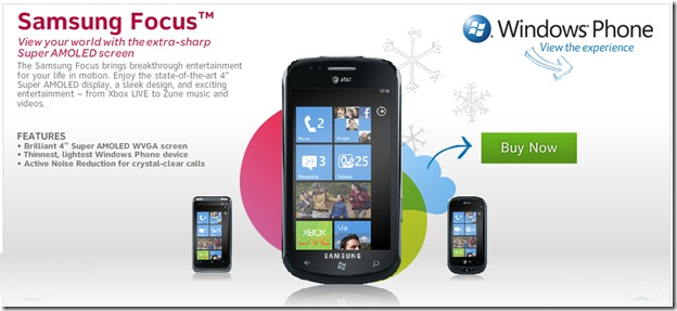 Windows phone 7 handsets now available on AT&T