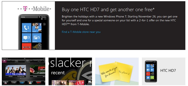 T Mobile Htc Hd7 Also Gets Bogof Mspoweruser