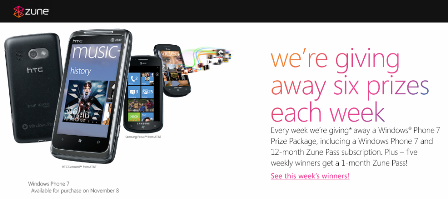 There's Still Time To Win A WP7 & Zune Pass 30