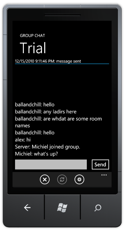 Group Chat Messenger for Windows Phone 3