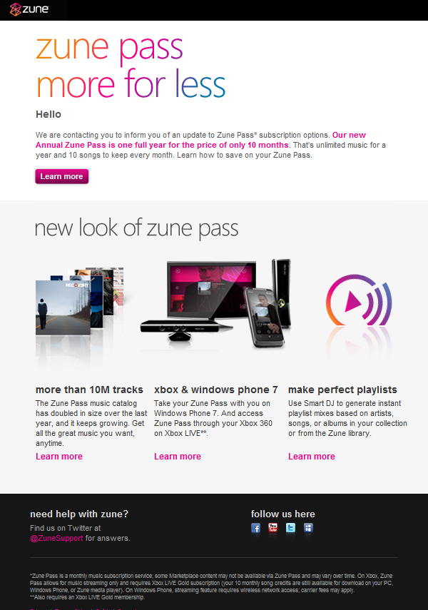 Zune Pass Annual Subscription Now Cheaper 14