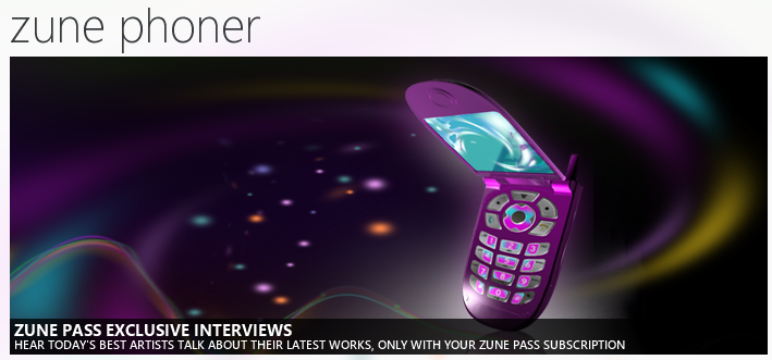 Exclusive Interviews for Zune Pass Subscribers 8