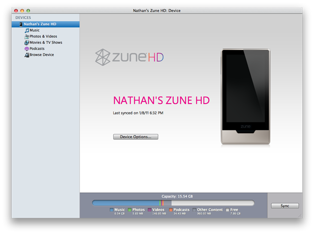 Windows Phone 7 connector for Mac secretly supports the ZuneHD 9