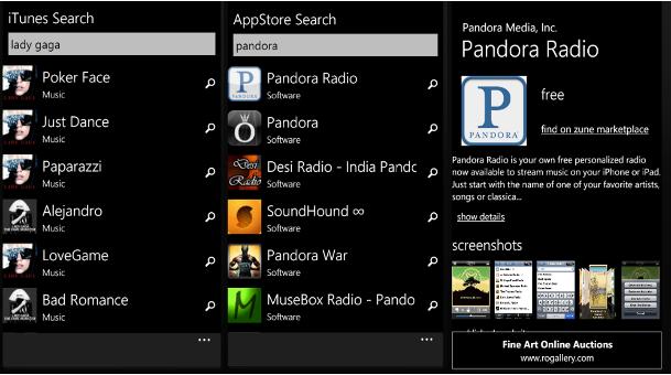 Search Apple iTunes App Store From Windows Phone 7 - MSPoweruser