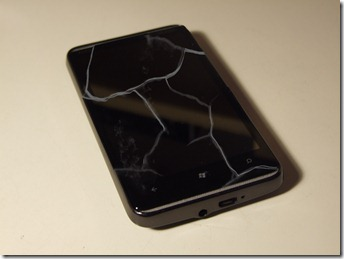 WP7 Cracked Screen