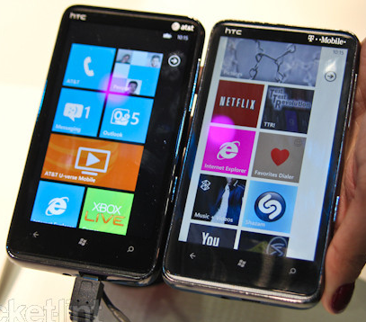 HTC HD7 TFT vs HTC HD7s Super LCD compared 8