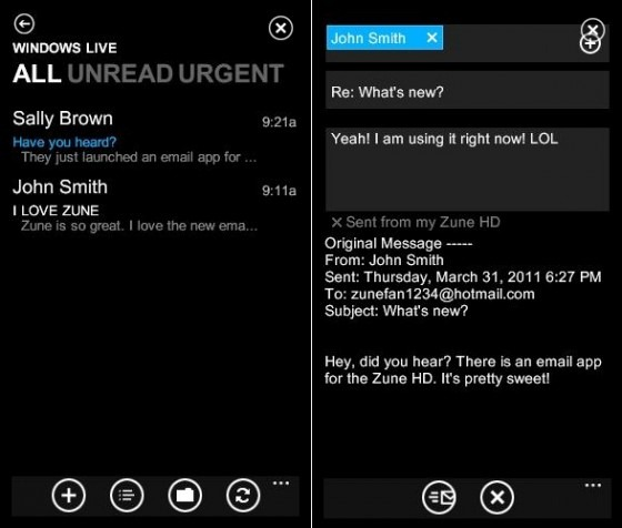 Not dead: Microsoft release email app, game for the Zune HD 3