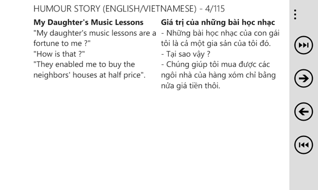 Humour Story Free (English/Vietnamese) - A good way to improve your English or Vietnamese. 1