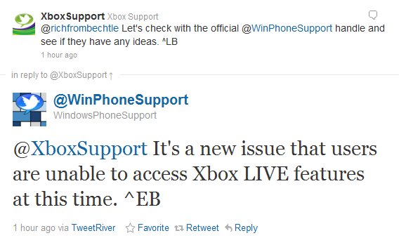 Now Xbox Live for Windows Phone down: Update–back up again - MSPoweruser