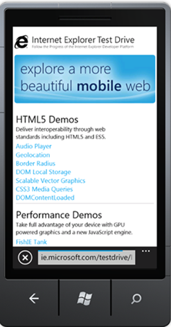 Microsoft Launches Mobile Test Drive Site Similar To Desktop IE Test