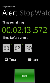 StopWatchXB : A simple, easy and powerful stopwatch for Windows Phone 7 1