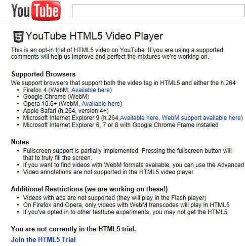 Tip for Mango users: Enable HTML5 playback in YouTube
