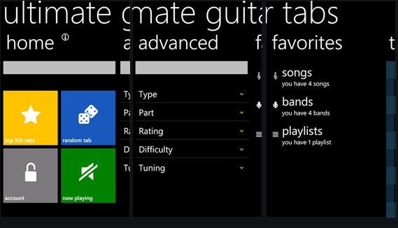Guitar learn guitar tabs : Learn Guitar From Your Windows Phone Using Ultimate Guitar Tabs ...
