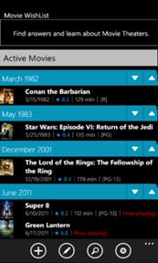 Movie Wishlist for Windows Phone 7 29