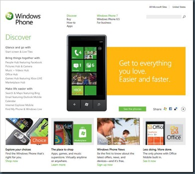 windowsphone homepage
