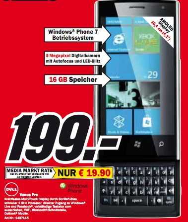 Dell Venue Pro now available for 199 Euro without contract ... on
