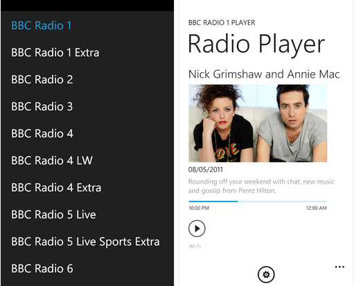 BBC Radio Player now supports Mango, background streaming 13