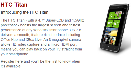 Vodafone Ireland offering the HTC Titan, confirms micro-HDMI port 7