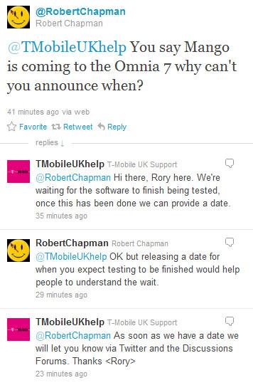 T-Mobile UK ciągle testuje Mango dla Samsung Omnia 7