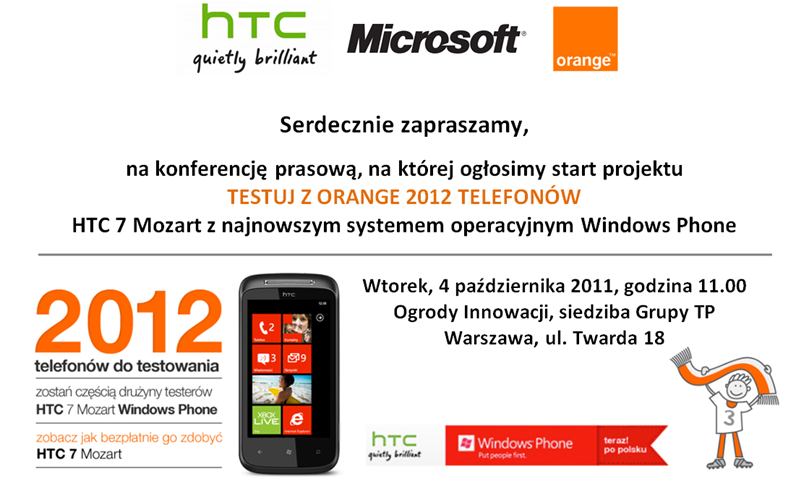HTC and Orange Poland running WP7 Try before You Buy scheme in Poland 9