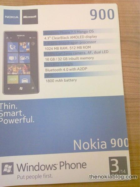 Nokia 900 (Ace) Specs Revealed? 1