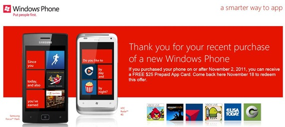 Windows Phone prepaid app card